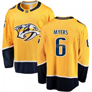 Philippe Myers Nashville Predators Men's Fanatics Branded Gold Breakaway Home Jersey
