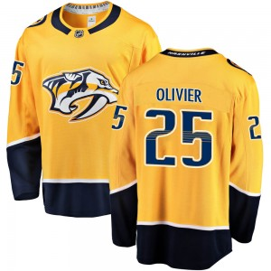 Mathieu Olivier Nashville Predators Men's Fanatics Branded Gold Breakaway Home Jersey