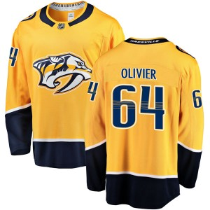 Mathieu Olivier Nashville Predators Men's Fanatics Branded Gold Breakaway Home Jersey