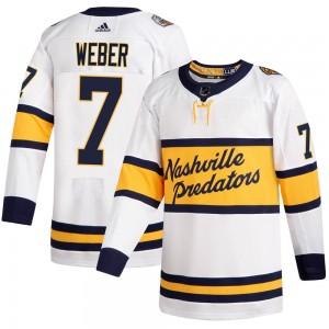 Yannick Weber Nashville Predators Youth Adidas Authentic White 2020 Winter Classic Jersey