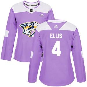 Ryan Ellis Nashville Predators Women's Adidas Authentic Purple Fights Cancer Practice Jersey