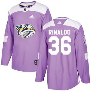 Zac Rinaldo Nashville Predators Men's Adidas Authentic Purple Fights Cancer Practice Jersey