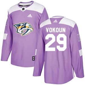 Tomas Vokoun Nashville Predators Men's Adidas Authentic Purple Fights Cancer Practice Jersey