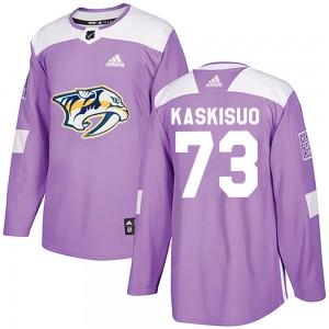 Kasimir Kaskisuo Nashville Predators Youth Adidas Authentic Purple Fights Cancer Practice Jersey