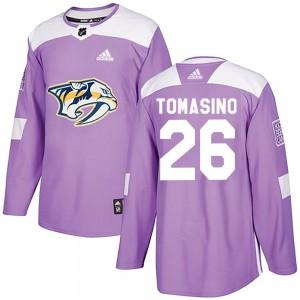 Philip Tomasino Nashville Predators Youth Adidas Authentic Purple Fights Cancer Practice Jersey