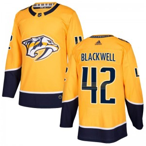 Colin Blackwell Nashville Predators Men's Adidas Authentic Gold Home Jersey