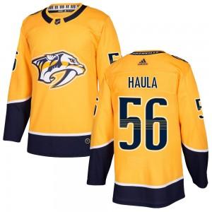 Erik Haula Nashville Predators Men's Adidas Authentic Gold Home Jersey