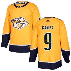 Paul Kariya Nashville Predators Men's Adidas Authentic Gold Home Jersey
