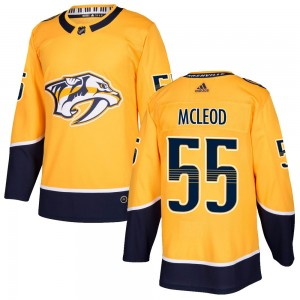 Cody Mcleod Nashville Predators Men's Adidas Authentic Gold Cody McLeod Home Jersey