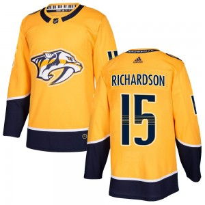 Brad Richardson Nashville Predators Men's Adidas Authentic Gold Home Jersey