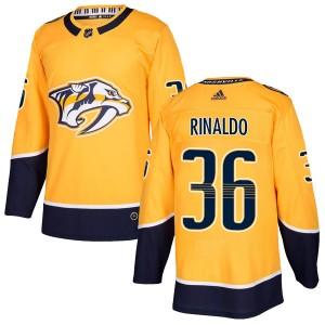 Zac Rinaldo Nashville Predators Men's Adidas Authentic Gold Home Jersey