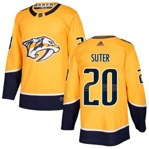 Ryan Suter Nashville Predators Men's Adidas Authentic Gold Home Jersey