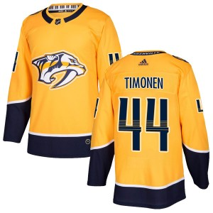 Kimmo Timonen Nashville Predators Men's Adidas Authentic Gold Home Jersey