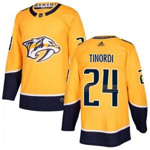 Jarred Tinordi Nashville Predators Men's Adidas Authentic Gold Home Jersey