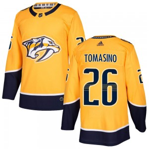 Philip Tomasino Nashville Predators Men's Adidas Authentic Gold Home Jersey