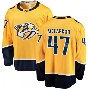 Michael McCarron Nashville Predators Youth Fanatics Branded Gold ized Breakaway Home Jersey