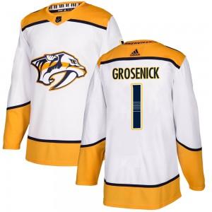 Troy Grosenick Nashville Predators Youth Adidas Authentic White ized Away Jersey