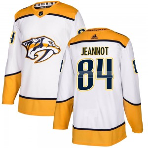 Tanner Jeannot Nashville Predators Youth Adidas Authentic White Away Jersey