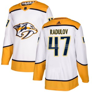 Alexander Radulov Nashville Predators Youth Adidas Authentic White Away Jersey