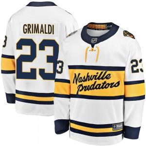 Rocco Grimaldi Nashville Predators Youth Fanatics Branded White 2020 Winter Classic Breakaway Jersey