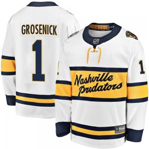 Troy Grosenick Nashville Predators Youth Fanatics Branded White ized 2020 Winter Classic Breakaway Player Jersey