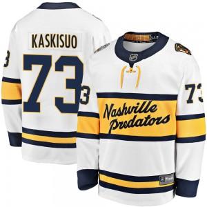 Kasimir Kaskisuo Nashville Predators Youth Fanatics Branded White 2020 Winter Classic Breakaway Player Jersey