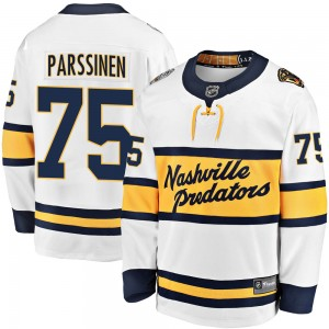 Juuso Parssinen Nashville Predators Youth Fanatics Branded White 2020 Winter Classic Breakaway Player Jersey