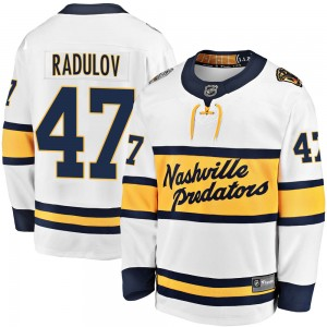 Alexander Radulov Nashville Predators Youth Fanatics Branded White 2020 Winter Classic Breakaway Jersey