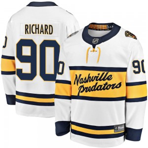 Anthony Richard Nashville Predators Youth Fanatics Branded White 2020 Winter Classic Breakaway Jersey