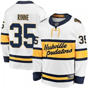 Pekka Rinne Nashville Predators Youth Fanatics Branded White 2020 Winter Classic Breakaway Jersey