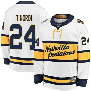 Jarred Tinordi Nashville Predators Youth Fanatics Branded White 2020 Winter Classic Breakaway Jersey
