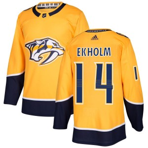 Mattias Ekholm Nashville Predators Men's Adidas Authentic Gold Jersey
