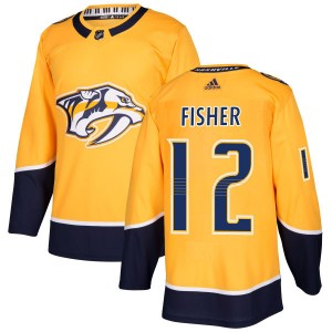 Mike Fisher Nashville Predators Men's Adidas Authentic Gold Jersey
