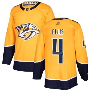 Ryan Ellis Nashville Predators Men's Adidas Authentic Gold Jersey