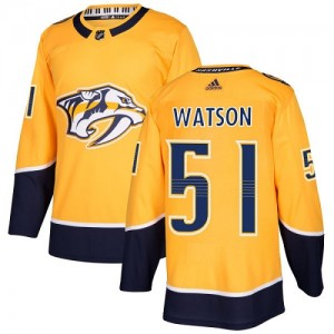 Austin Watson Nashville Predators Youth Adidas Authentic Gold Home Jersey