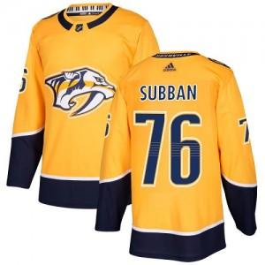 P.K. Subban Nashville Predators Youth Adidas Authentic Gold Home Jersey