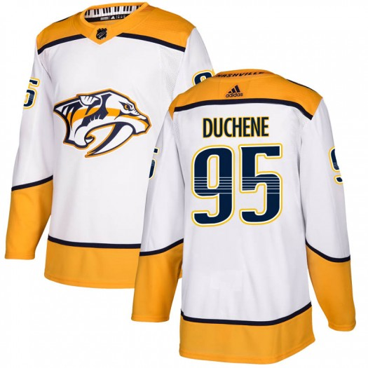 Matt Duchene Nashville Predators Men's Adidas Authentic White Away Jersey