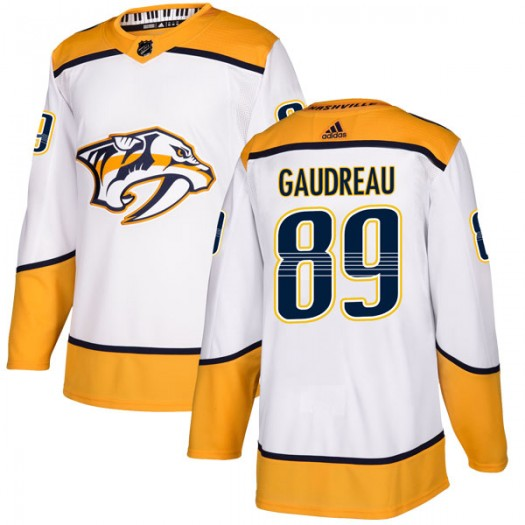 Frederick Gaudreau Nashville Predators Men's Adidas Authentic White Away Jersey