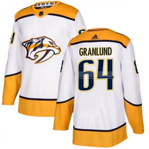 Mikael Granlund Nashville Predators Men's Adidas Authentic White Away Jersey