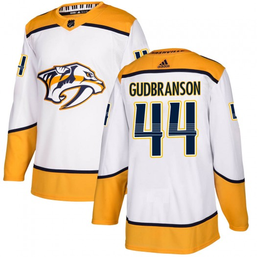 Erik Gudbranson Nashville Predators Men's Adidas Authentic White Away Jersey