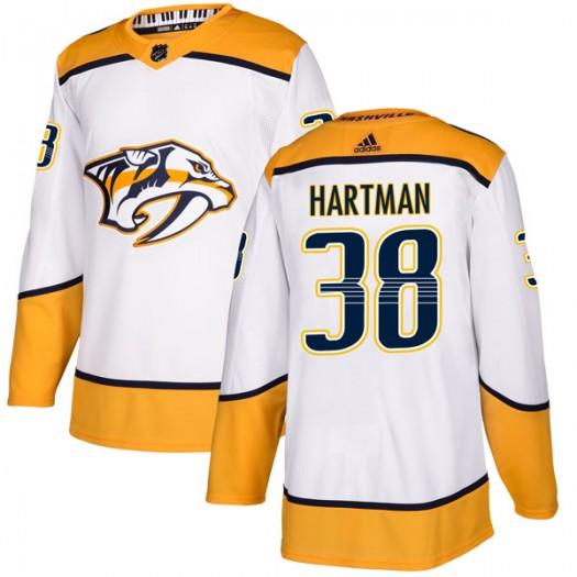 Ryan Hartman Nashville Predators Men's Adidas Authentic White Away Jersey