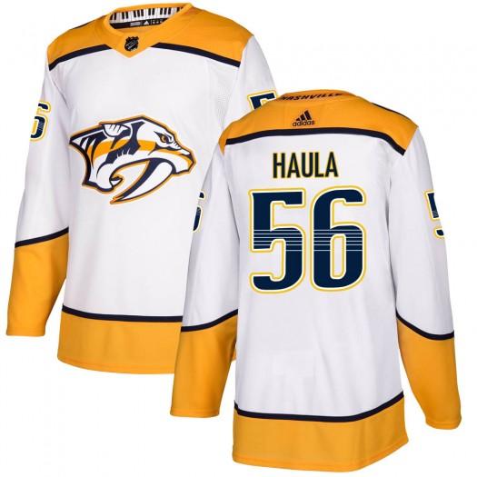 Erik Haula Nashville Predators Men's Adidas Authentic White Away Jersey