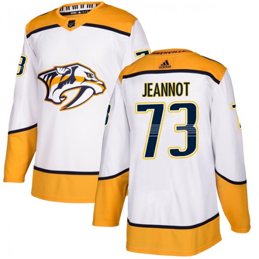 Tanner Jeannot Nashville Predators Men's Adidas Authentic White Away Jersey