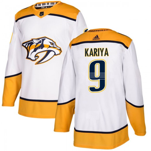 Paul Kariya Nashville Predators Men's Adidas Authentic White Away Jersey