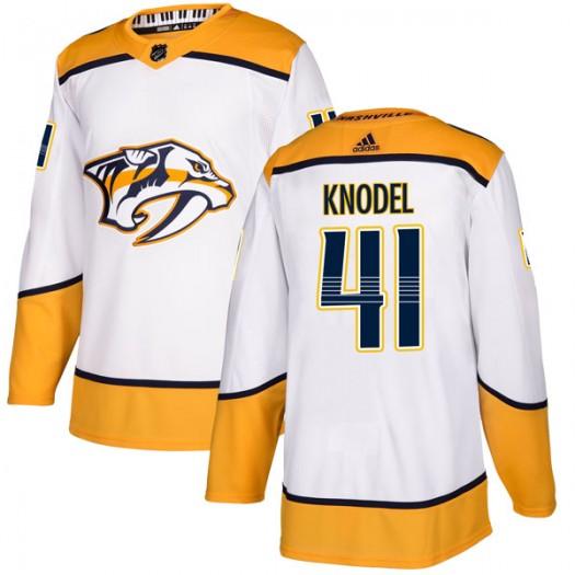 Eric Knodel Nashville Predators Men's Adidas Authentic White Away Jersey
