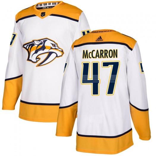 Michael McCarron Nashville Predators Men's Adidas Authentic White ized Away Jersey
