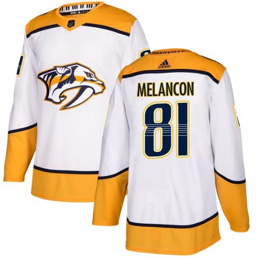 T.J. Melancon Nashville Predators Men's Adidas Authentic White Away Jersey