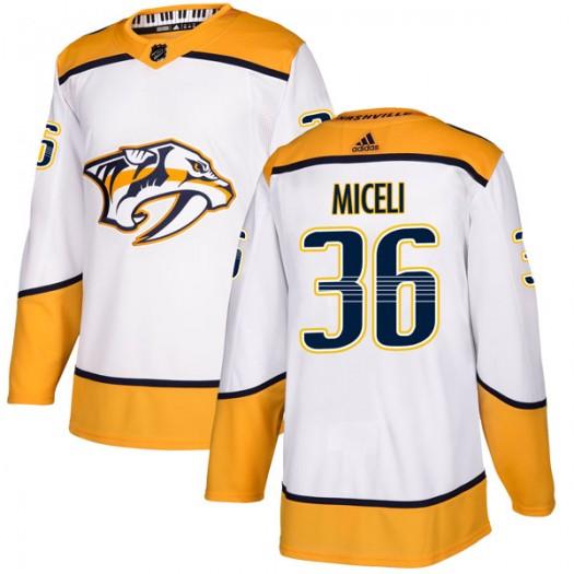 Angelo Miceli Nashville Predators Men's Adidas Authentic White Away Jersey