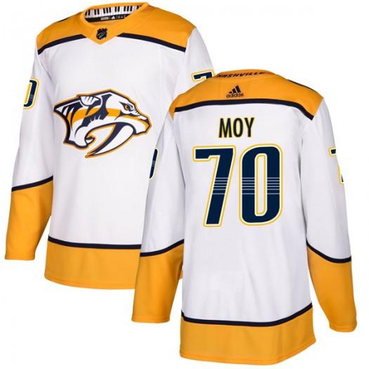 Tyler Moy Nashville Predators Men's Adidas Authentic White Away Jersey