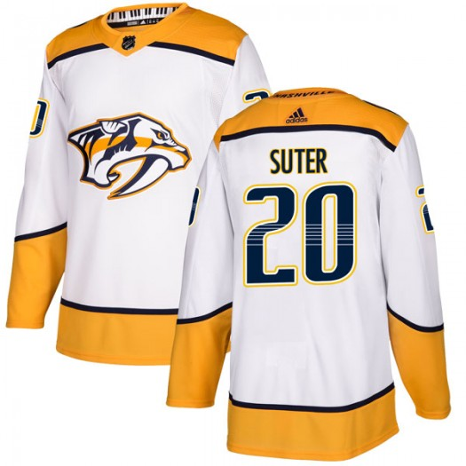 Ryan Suter Nashville Predators Men's Adidas Authentic White Away Jersey